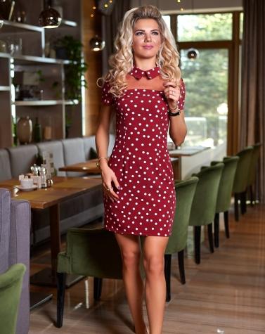 Платье в горошек  7881