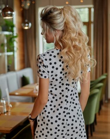 Стильное кожаное платье 7884