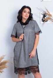 Платье-двойка  (большой размер) 7657