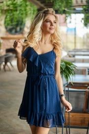 Шифоновое платье со сборками 7819