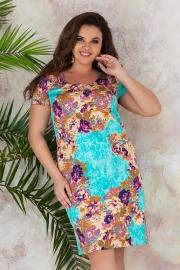 Платье в летний принт 7247