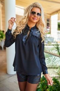Невесомая чёрная блузка 1355