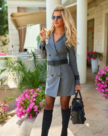 Деловое платье-пиджак 7909