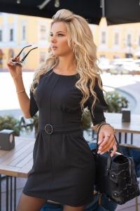 Чёрное стильное платье 7917