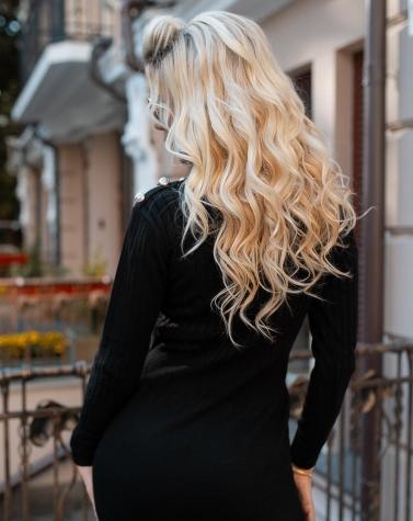 Вязаное облегающее платье 4001