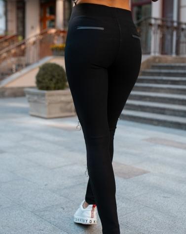 Стильные легинсы со вставкой на колени 2506 (ТУРЦИЯ)