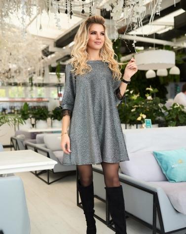 Расклешенное элегантное платье 7866