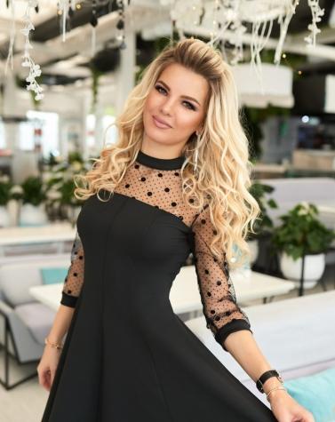 Элегантное черное платье 7865