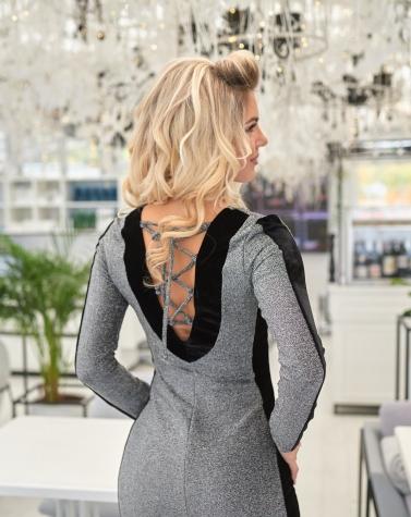 Мерцающее нарядное платье 7928