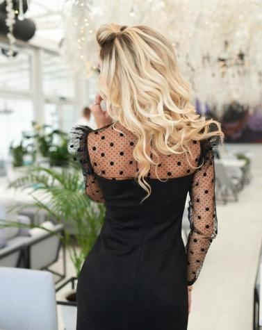 Замшевое платье с крылышками 7930