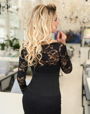 Гипюровое платье с корсетом 7870