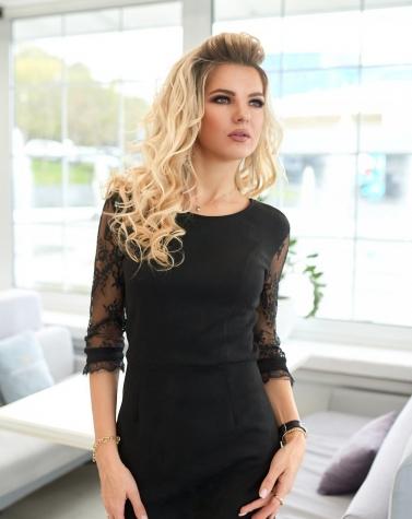 Платье с кружевной спинкой 7929