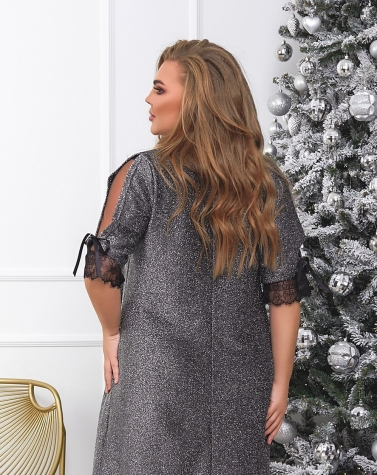 Расклешённое платье (большой размер) 7866