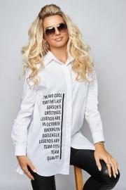 Белая рубашка oversize 1361