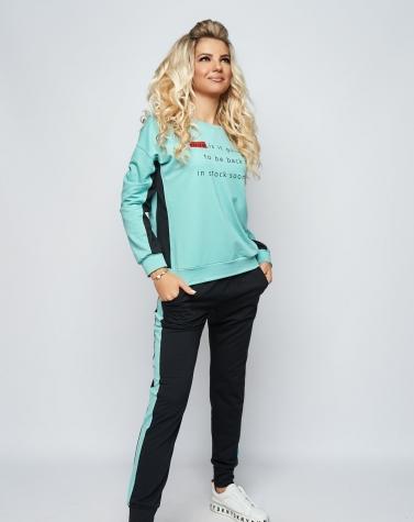 Спортивный костюм Love ментоловый 5089