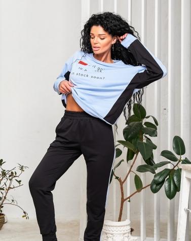 Спортивный костюм Love голубой  5089