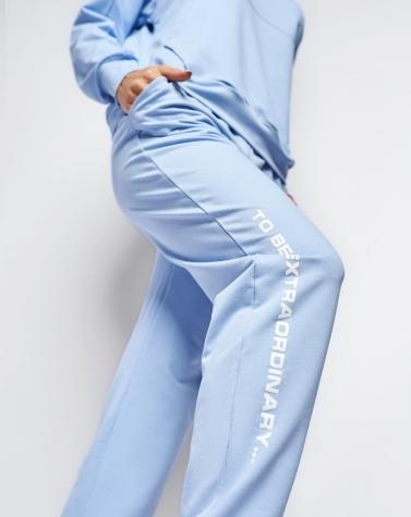 Стильный спортивный костюм голубой 5090