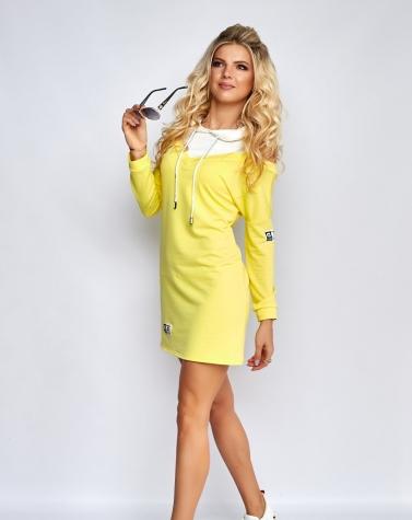 Комбинированное платье 7920