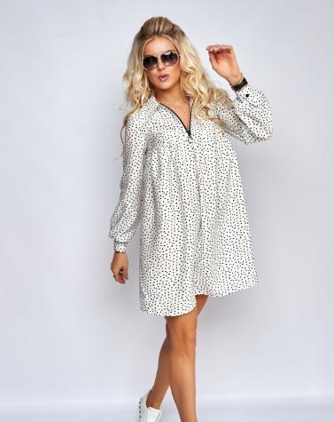 Свободное платье в принт 7941