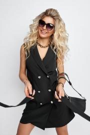 Платье-пиджак чёрное 7943