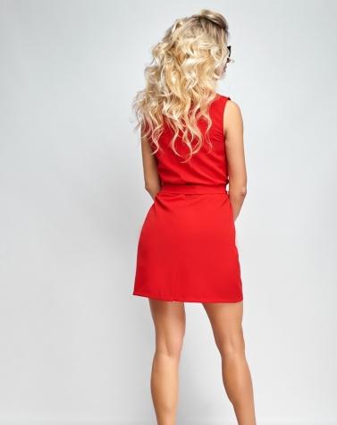 Платье-пиджак красное 7943