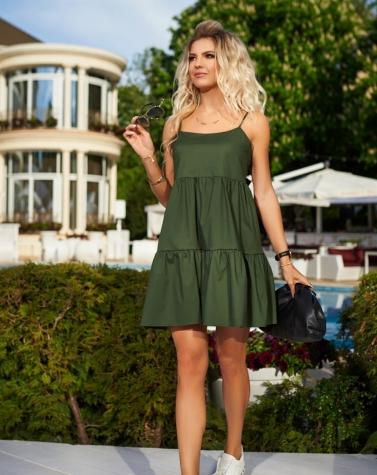 Летнее платье хаки 7904