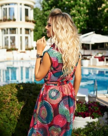 Лёгкое платье в летний принт 7946