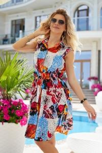Стильное платье в летний принт 7946