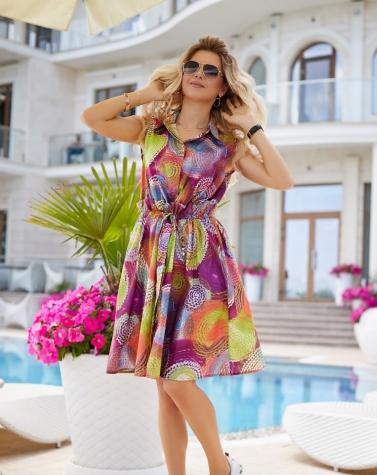 Летнее хлопковое платье 7946
