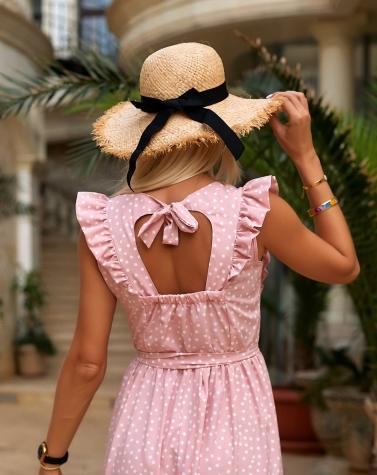 Длинное платье в горошек 7953