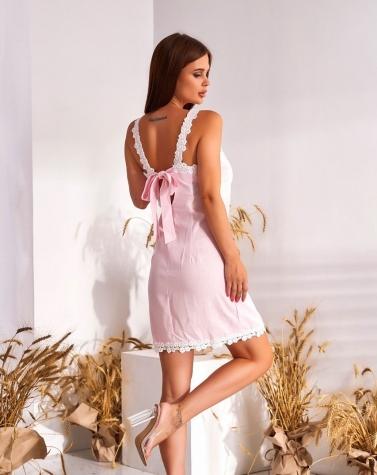 Платье розовое 7679