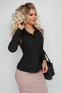 Лаконичная блузка чёрная 1373