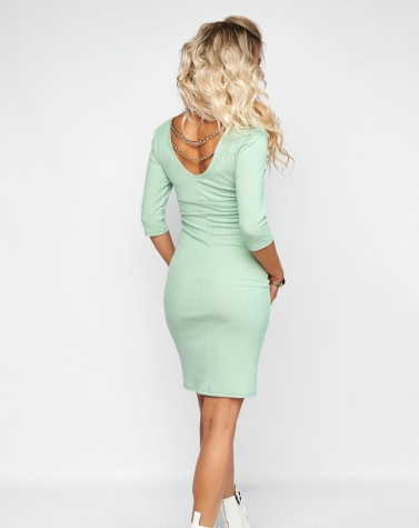 Облегающее платье в трикотаж