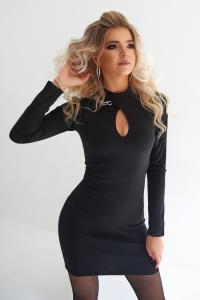 Элегантное платье с цепочкой 7967