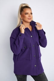 Полупальто кашемировое фиолетовое 1375