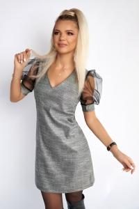 Платье с прозрачными рукавам 7874