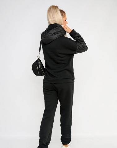 Утепленный костюм на флисе чёрный 6002